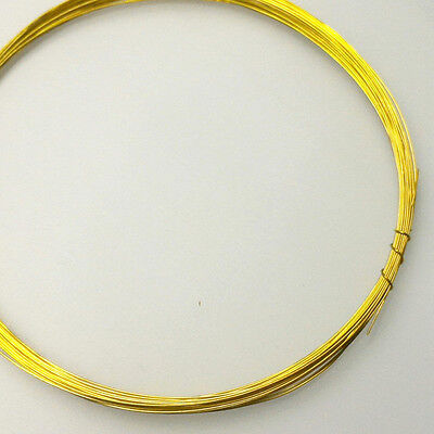 29 gauge 0.3mm SOFT SOLID BRASS WIRE weaving JEWELRY FINDING CRAFT BEADING (30ft