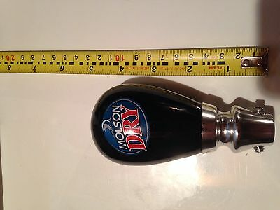 brand new molson dry draft tap handle
