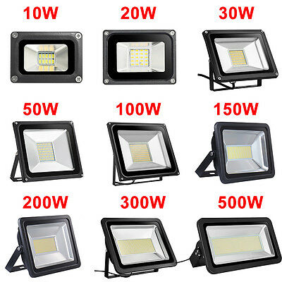 10W 20W 30W 50W 100W 150W 200W 300W 500W LED Flood Light Outdoor Security Lamp