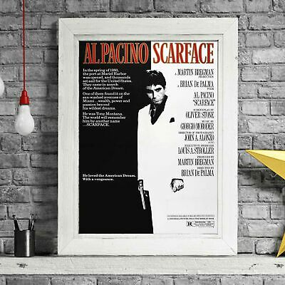 SCARFACE AL PACINO - Movie Poster Picture Print Sizes A5 to A0 **FREE DELIVERY**