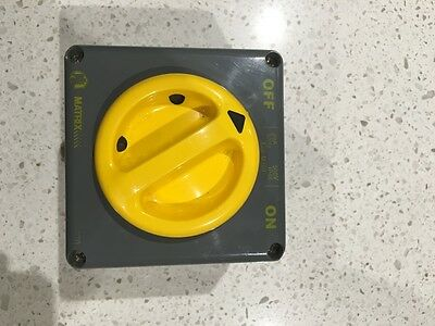 Matrix Industrial 3 Phase Surface Switch - 3 Pole, 20A, 500V