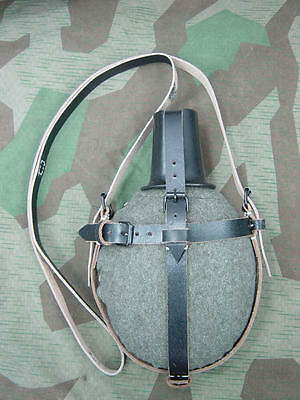 WWII German Medical Canteen's Wool Felt Cover & Carry Strap
