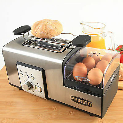 Breakfast Station Toaster Egg Cooker Boiler Steamer Poacher Fried Boil Non-Stick