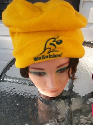 supporters beanie hat  wallaby wallabies team rugby union