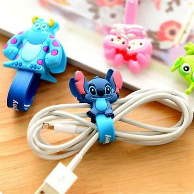 10pcs/lot Cartoon Animal Earphone cord winders Cable Tidy Wrap Wires Organizer