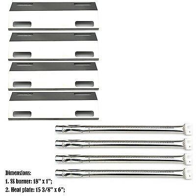 Replacement Burners & Heat Plates for Ducane 4 Burner Gas Barbecue Grill 4100
