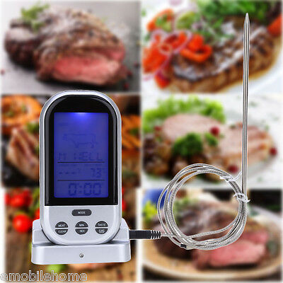 TS-BN52 Digital Wireless Remote Kitchen Oven Cooking Smoker Meat Thermometer