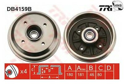 TRW Brake Drum (With Bearing) - DB4159B