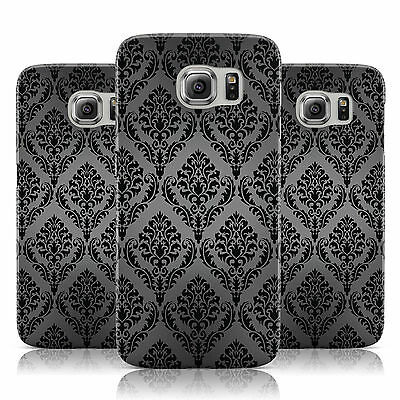 Black White Grey Vintage Pattern Case Cover For Samsung Galaxy Mobile Phones