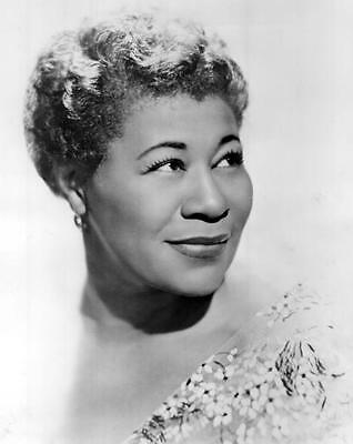 Ella Fitzgerald American Jazz Singer B & W Photograph Music Print Poster A4