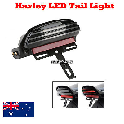 Tri Bar Fender LED Tail Light + Bracket Harley Softail FXST FXSTB FXSTC 06 - 16