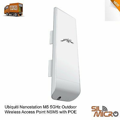 New Ubiquiti Nanostation M5 5GHz Outdoor Wireless Access Point NSM5 with POE