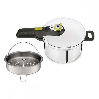 Tefal TEF-P2530738 6Litre 5 Way Secure Stainless Steel Pressure System - New