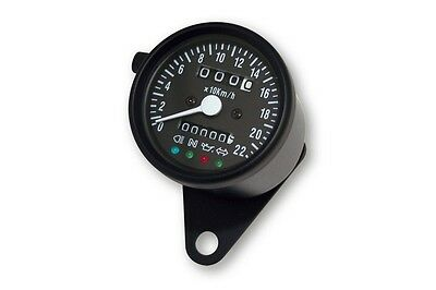 Contachilometri Analogico spie led vintage speedometer led indicator WHITE LIGHT