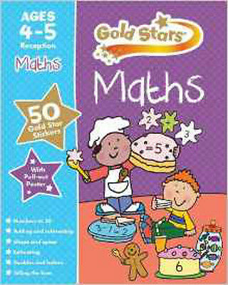 Gold Stars Maths Ages 4-5 (Preschool Workbook), New, Parragon Book