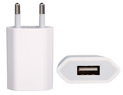 Adaptador Mono Usb Enchufe Corriente Para Apple Iphone Ipad - Blanco
