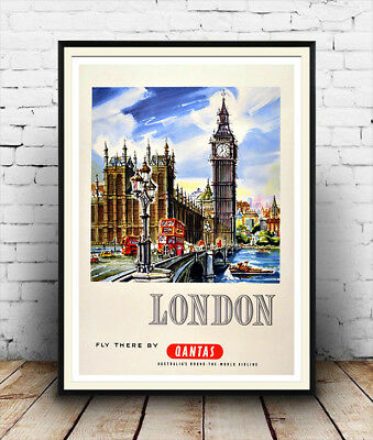 Old Vintage Travel Poster Reproduction Boat Race Wall Art