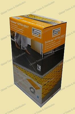 Schluter Systems DITRA Heat DHEK12040 Floor Warming Kit Thermostat + Mat + Cable