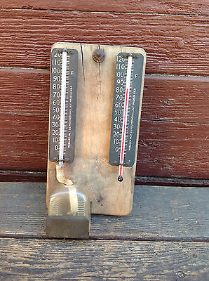 Vintage Moeller Inst Co Richmond Hill NY USA Wet and Dry Hygrometer