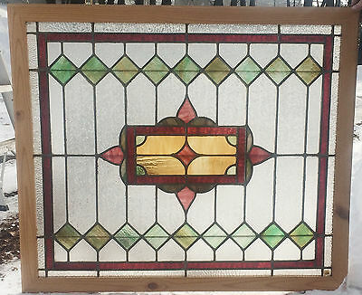cir. 1910 Architectural Antique Leaded Victorian Stained Glass Window