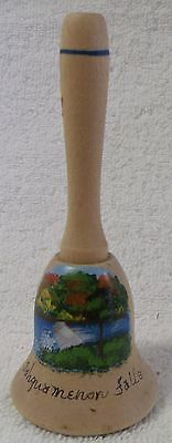 "Vintage Bells--Wooden Bell--5"" Tall--Hand Painted--Very Nice--Great Patina!"