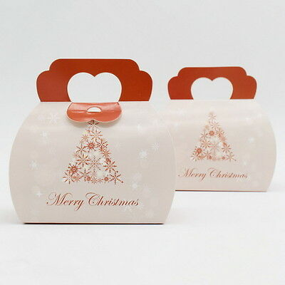 10pcs Colorful Box Wedding Party Candy Cake Gift Boxes Christmas Snow Tree