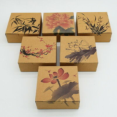 10pcs Colorful Box Wedding Party Candy Cake Gift Boxes Chinese Ink Painting