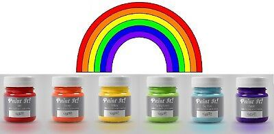 Rainbow Dust Paint It Cake Decoration Edible Food Paint Colouring 6 Colours