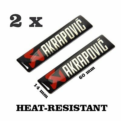 Akrapovic Exhaust Sticker Pipe Decal Racing Stickers Heat Resistant Proof 2 pcs.