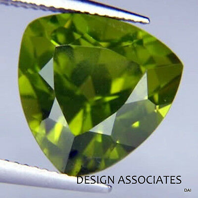 5x5 MM Trillion Cut Peridot   All Natural Without Treatment 2 PC SET