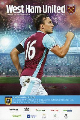 2016-17 - West Ham v NK Domzale 4.8.2016 Europa Cup