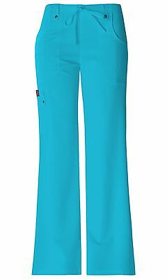ef0b5871056 Dickies Scrubs Xtreme Stretch Cargo Scrub Pants 82011 Icy Turquoise Junior  Fit