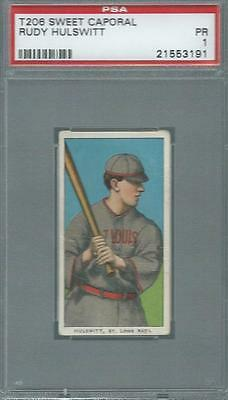 Rudy Hulswitt T206 Sweet Caporal Cigarette Baseball Card Psa Graded 1909-11 Obc