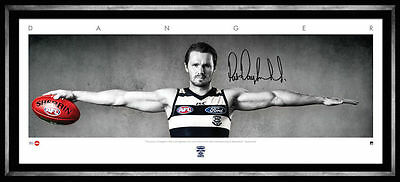 Patrick Dangerfield Official Afl Danger Signed Wings Print Lithograph