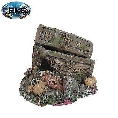 Ellie-Bo Pirates Treasure Handpainted Polyresin Aquarium Ornament