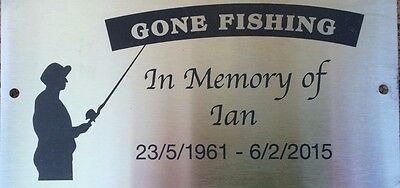 Grave Marker Laser Engraved Memorial Stainless Steel Mounting Holes 200x100mm