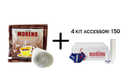 600 Cialde Caffe' Moreno Miscela Espresso Bar + Kit Accessori Ese 44 Mm Or