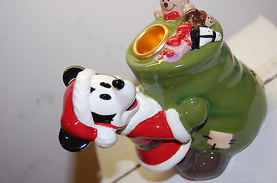 NIB Mickey Mouse Candle stick holder Disney Collectors Item Santa