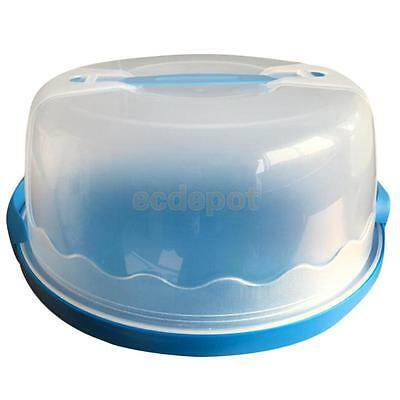 Portable Cupcake Dessert Bakery Storage Box Holder Carrier Container Blue
