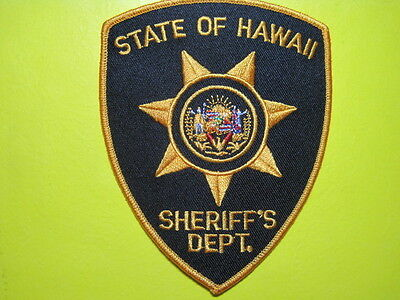 Hawaii State Sheriff Patch Shoulder Size Close Out End Listing When Sold