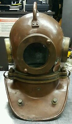 Soviet USSR Original RUSSIAN 3-bolt Diving Helmet (casque,escafandra)