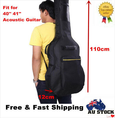 "41"" Classical Acoustic Guitar Back Carry Case Gig Bag Double Stitched Padded"