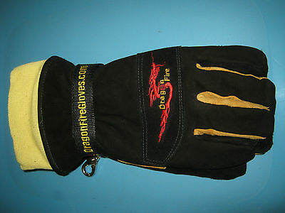 Dragon Fire Alpha X Structural Firefighter Gloves w/ Wristlet Size S NEW