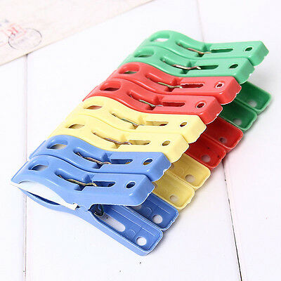 8PCS Strong Beach Towel Clips Fun Bright Colors Keep Your Towel Blowing Away