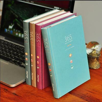 """Color 365"" 1pc Monthly Daily Planner Hard Cover Diary Cute Notebook Journal"