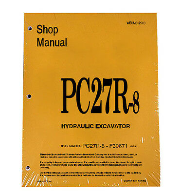 Komatsu Service PC27R-8 Excavator Shop Manual NEW #2
