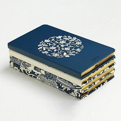 """""""White Porcelain H5"""" 1pc Journal Diary Hard Cover Lined Notebook Pocket Planner"""