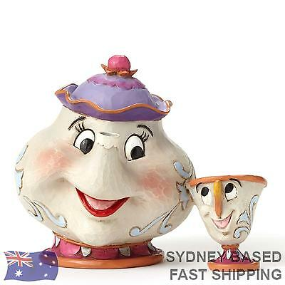 Jim Shore Disney Traditions - MRS POTTS AND CHIP Beauty and the Beast figurine 4