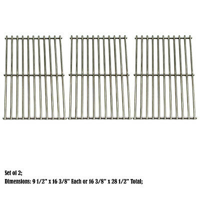 Replacement Stainless Steel Cooking Grid Grate for Uniflame Gas Grill, 3 pack
