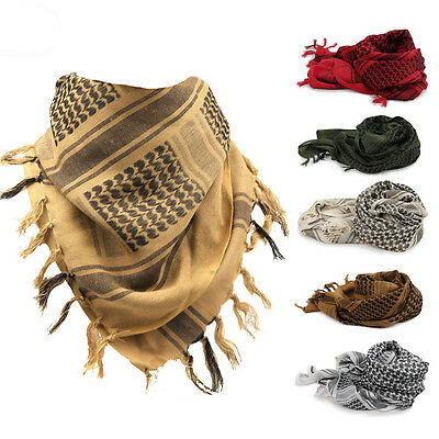 Shemagh Military Tactical Arab Scarf Desert Army KeffIyeh 100% Cotton Head Wrap